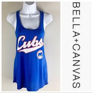 "Bella Canvas Chicago Cubs Racerback ""12"" Tank Top"